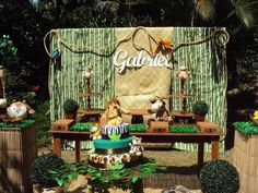 Decoração provençal Festa safari /selva / floresta
