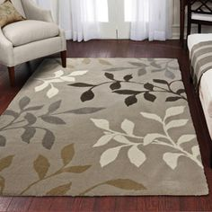 Orian Melrose Adobe Fleece Rug- might be a good match in my tan/ white/ black living room (Walmart.com)