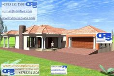 4 Bedroom House Plans, House Floor Plans, Single Storey House Plans, Model House Plan, My Dream Home, Dream Homes, Site Plans, African Print Dresses, Garage Plans