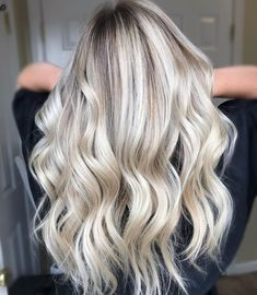 Pearlescent blonde balayage with freelights for a ethereal vibe. Created by Beauty By Nicole LLC.