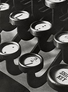 Title: [Typewriter keys] Creator(s): Steiner, Ralph, photographer Related Names: Clarence H. White School of Photography. Date Created/Published: printed Alfred Stieglitz, Edward Steichen, Straight Photography, Still Life Photography, David Bailey, Annie Leibovitz, Richard Avedon, Vintage Office, Retro Vintage