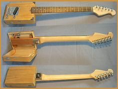 USA Single Pickup Pro Electric 6 String Opening Cigar Box Guitar,mahogany core