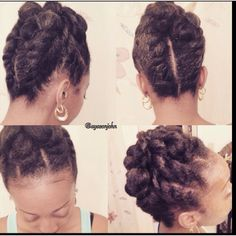 A simple twist design for natural hair