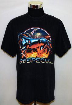 38 Special Rock N Roll Vintage Band Concert Tour 2007 Runnin' Wild TShirt Size L #TennesseeRiver #BasicTee