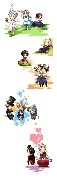Alice in Wonderland x Hetalia this is too cute russia as then queen of heart thats too cute