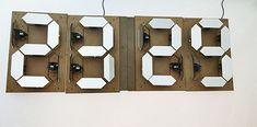 fabacademy mechanical 7 segment display clock