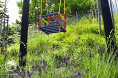 #landscape #architecture #garden #meadow #swing Meadow Garden, Flower Beds, Landscape Architecture, Habitats, Playground, Princess Castle, Outdoor Structures, Park, Atelier