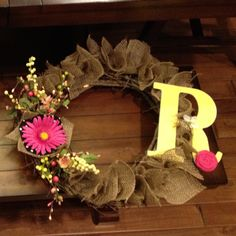 DIY wreath -I love this! May be able to make with the wedding leftovers!