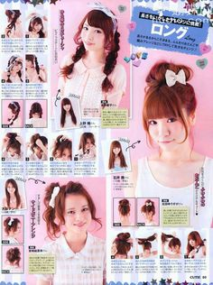 Japanese Hairstyle Tutorial - Cute Hairstyle Tutorials Hair Styles - information of Japanese hairstyle tutorial ideas to rearange your interior and make your lovely home more inspiring 2 Japanese Neo-Gyaru HAIRST. Kawaii Hairstyles, Pretty Hairstyles, Girl Hairstyles, Hairdos, Cute Japanese, Japanese Beauty, Gyaru Hair, Natural Hair Styles, Short Hair Styles