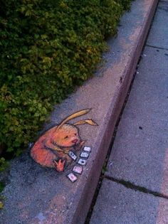 Chalk Street Art....By::David Zinn