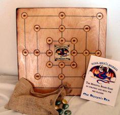 Nine Mens Morris, 9 Men Morris, Handcrafted Ancient Viking Board Game, Wooden Medieval Game, Reniassance