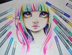 Rainbow Elf by Lighane.deviantart.com on @DeviantArt