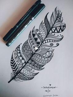 Federkunst  #federkunst #federkunst Mandala Doodle, Easy Mandala Drawing, Mandala Art Lesson, Doodle Art Designs, Doodle Art Drawing, Zentangle Drawings, Pencil Art Drawings, Cool Art Drawings, Drawing Ideas