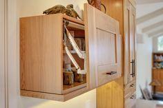 Contemporary Kitchen with Quartz Countertops and Red Birch Cabinets | iDesignArch | Interior Design, Architecture & Interior Decorating eMagazine