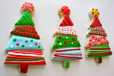 Mod christmas tree cookies - Nice find @Denise H. Luna !