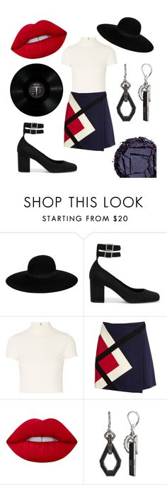 """""""Some Strange Music Draws Me In"""" by hollyberry1234 ❤ liked on Polyvore featuring Maison Michel, Yves Saint Laurent, Alice + Olivia, MSGM, Lime Crime, Simply Vera and Urban Decay"""