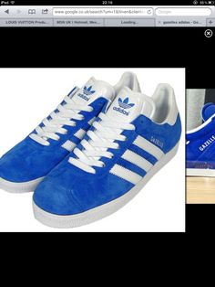 separation shoes 18a15 7c880 Blue gazelles Blue Adidas, Adidas Gazelle, Sneakers, Shoes, Style, Fashion,
