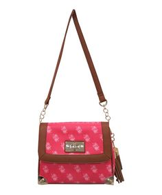 Look what I found on #zulily! Coral & Brown Crossbody Bag #zulilyfinds