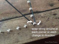 string art tutorial - Home Made Modern