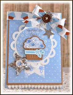 Cupcake card designed by Tammy Hobbs @ Creating Somewhere Under The Sun: You make Life Sweeter #cupcakecard,