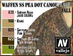 Ww2 Uniforms, German Uniforms, Bolt Action Miniatures, Afrika Corps, Paint Charts, Military Drawings, German Soldiers Ww2, Camouflage Patterns, Tanks
