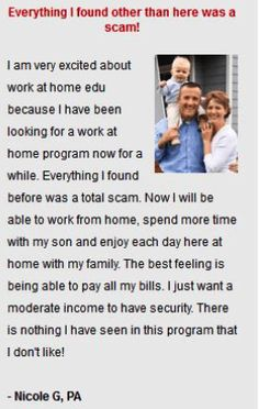 Work At Home Edu is one of those outright scams ...