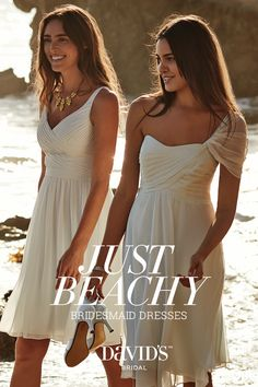 Bridesmaid dresses perfect for beach weddings, only at David's Bridal.
