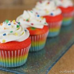 Cupcakes d'arc de Sant Martí.