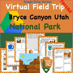 Google Drive Version- Bryce Canyon National Park Virtual Field Trip Science Writing, Writing Activities, Science Activities, Social Studies Resources, Learning Resources, Classroom Resources, Bryce Canyon Utah, Canyon Park, Virtual Field Trips