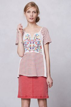 Striped Scenery Tee  #anthropologie #FlowerShop  This is so me - it's gotta go in the shopping cart asap