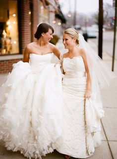 Two gorgeous gowns from The Wedding Studio
