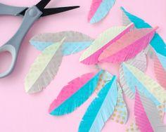 Omiyage Blogs: DIY Washi Tape Feathers