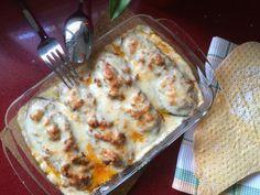 BERENJENAS RELLENAS by De Buena  Mesa @Cookbooth http://www.cookbooth.com/recipe//berenjenas-rellenas-94153