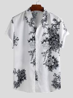 Half Sleeve Shirts, Shirt Sleeves, Indian Men Fashion, Mens Fashion, Kurta Pajama Men, Plus Size Casual, Chinese Style, Eid, Casual Shirts