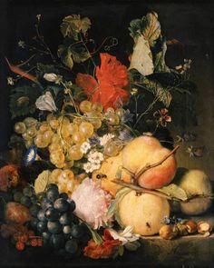 Jan Van Huysum | Bild: Jan van Huysum - Früchte, Blumen und Insekten