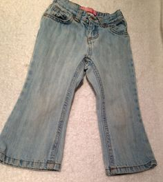 Old Navy Toddler Girls Light Denim Jeans Adjustable Size 2T #oldnavy #Jeans #Everyday