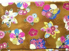 Beautiful Japanese Cotton Fabric-Kimono Pattern-Plum Blossoms Half