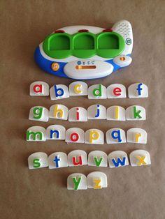 LeapFrog Airplane Unit Lowercase Letters Fridge Magnet Back to School Fun #LeapFrog