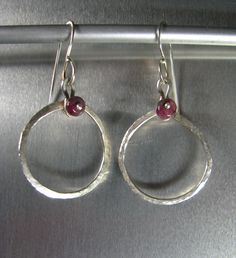 Tourmaline earrings with fine silver and Argentium ear wires