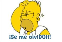 ¿Qué dice Homero Simpson cuando no recuerda algo?