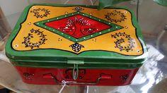 Red Box of Joy!! Handpainted  warli trinket box by GAPGallery on Etsy