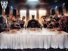 Batman - The Last Supper by @wizyakuza!