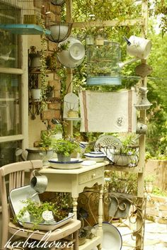 Potting shed stuff add layers of greens and moss to gazebo