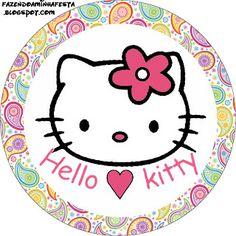 Hello Kitty – Kit Completo com molduras para convites, rótulos para guloseimas, lembrancinhas e imagens! | Fazendo a Nossa Festa