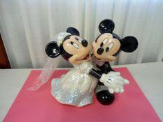 Disney Mickey & Minnie Mouse Wedding Tango Cake Topper Figurine Bride Groom