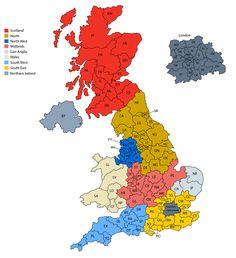 Map of United Kingdom postcodes