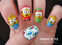 Nailed It NZ: Christmas Minions | Nail Art Inspired by Despicable Me http://www.naileditnz.com/2014/12/christmas-minions-nail-art-inspired-by.html