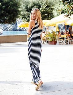 Must have this dress!  This makes me happy.  Navy and white stripes always makes me happy!