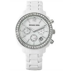 Purchase your must have Michael Kors Ladies Chronograph White Watch from Tic Watches. Our range of Michael Kors designer watches come with a 2 year Tic Watches Warranty. White Michael Kors Watch, Cheap Michael Kors, Handbags Michael Kors, Michael Kors Bag, Michael Kors Designer, Link Bracelets, Cool Watches, Chronograph, Crystals