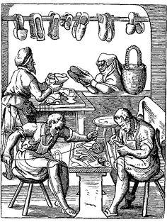 1. Shoe making was considered art during the Renaissance bc it was a particular, unique craft done by a skilled shoemaker who made each shoe by hand. Today it is not considered art bc shoes are mass produced by machines and no longer by hand. (renaissance shoemaker - Google Search